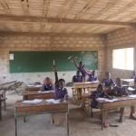 Klassenzimmer im neuen Schulgebäude